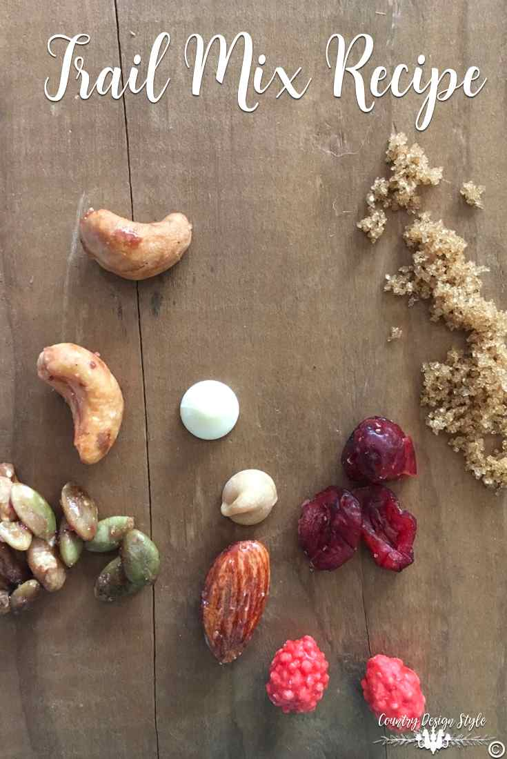 Trail Mix Recipe ingredients | Country Design Style | countrydesignstyle.com