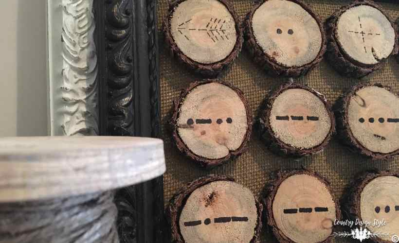 Valentine Morse Code Obsession in Wood Slices