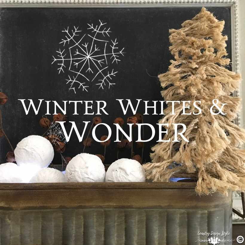 Winter White Wonder SQ | Country Design Style | countrydesignstyle.com