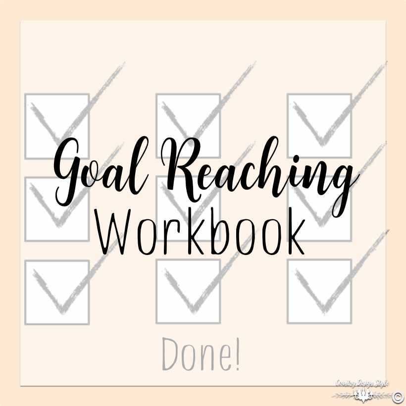 goal reaching workbook sq | Country Design Style | countrydesignstyle.com