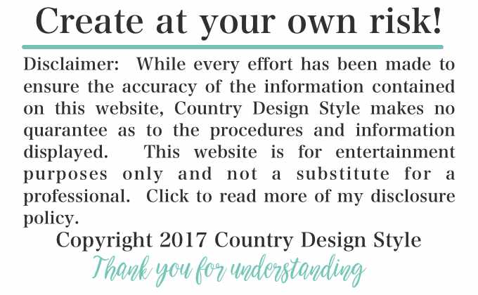 Create at your own risk | Country Design Style | countrydesignstyle.com