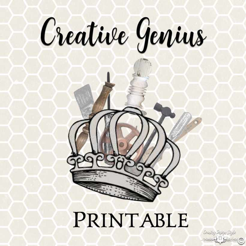 Creative Genius Printable SQ| Country Design Style | countrydesignstyle.com