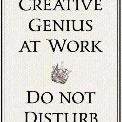 Creative genius printable