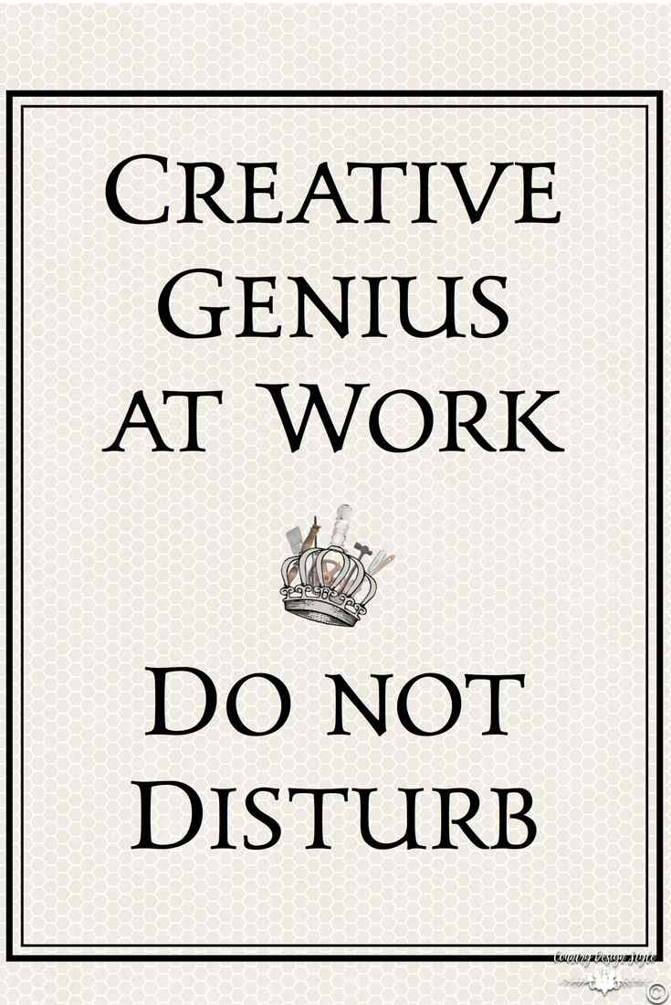 Creative Genius Printable pn | Country Design Style | countrydesignstyle.com
