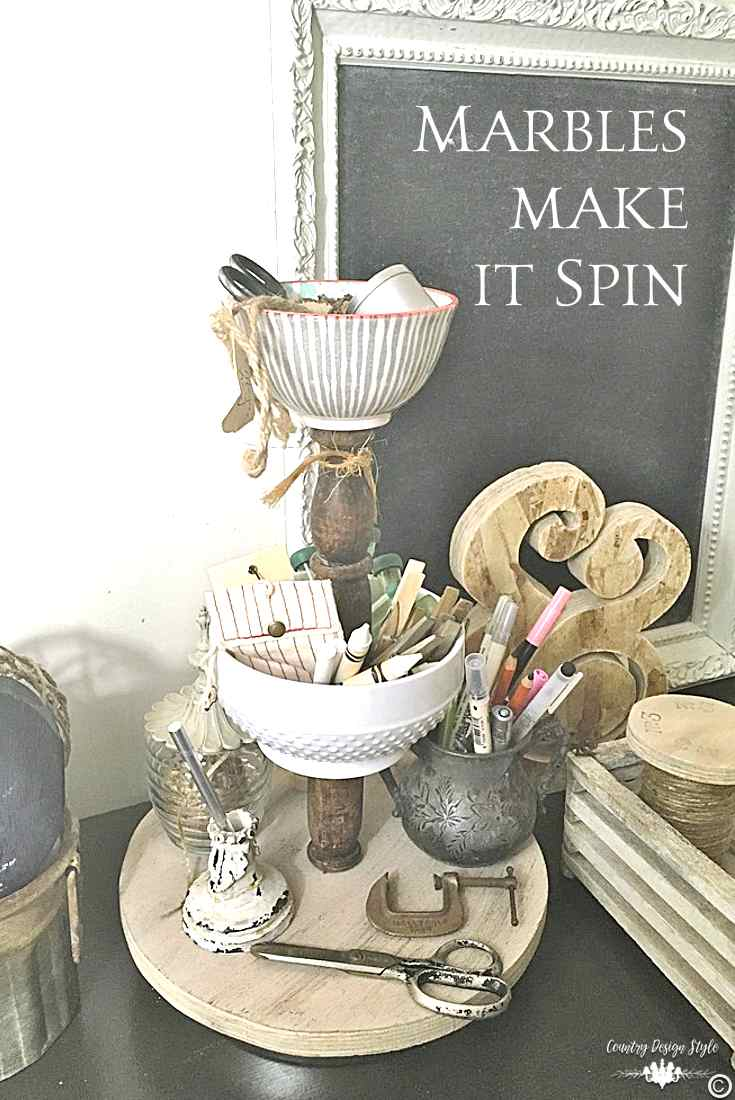 DIzzy Lazy Susan [DIY] Pin 2 | Country Design Style | countrydesignstyle.com
