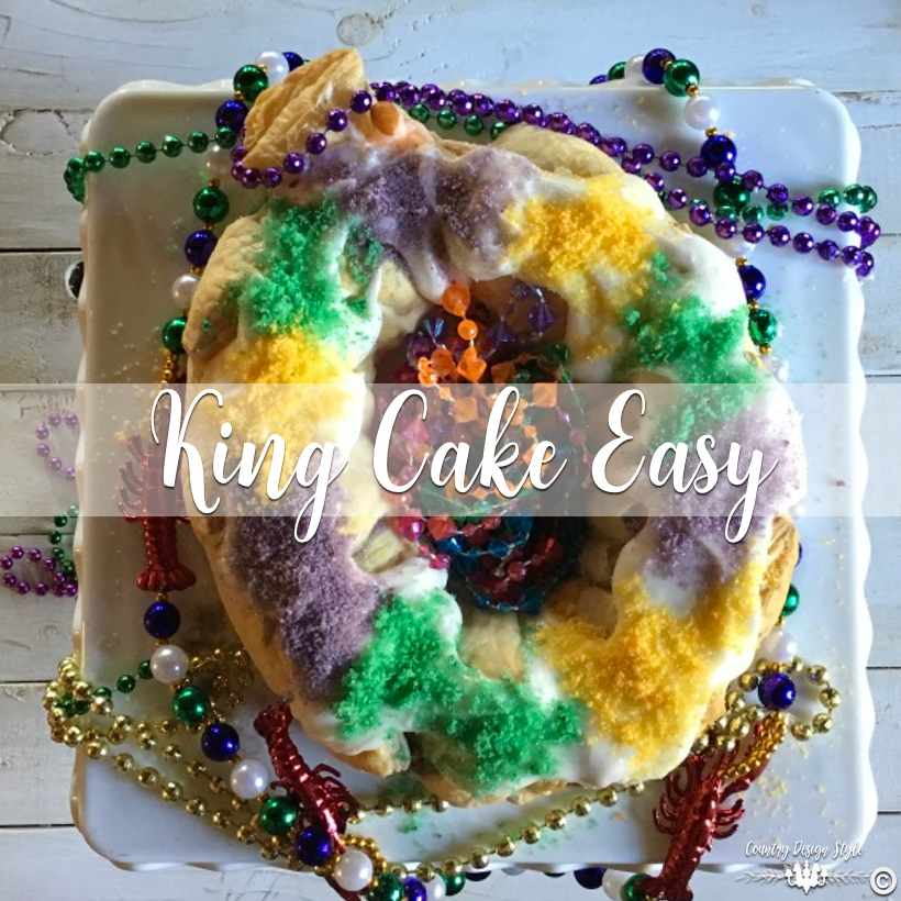 King Cake Easy SQ  Country Design Style   countrydesignstyle.com