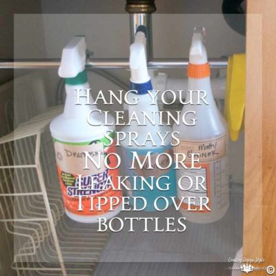 Under-Kitchen-Sink-Organization-cleaning sprays | Country Design Style | countrydesignstyle.com