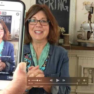 How-to-survive-making-a-Facebook-live-demo-without-Bumbling-Filming | Country Design Style | countrydesignstyle.com