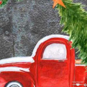 Red-pickup-christmas-sq | Country Design Style | countrydesignstyle.com