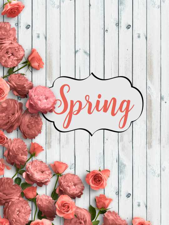Spring Decorating Ideas Printable for mantel IMAGE | Country Design Style | countrydesignstyle.com