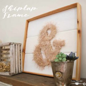 How-to-make-a-frame-using-popular-shiplap-SQ | Country Design Style | countrydesignstyle.com
