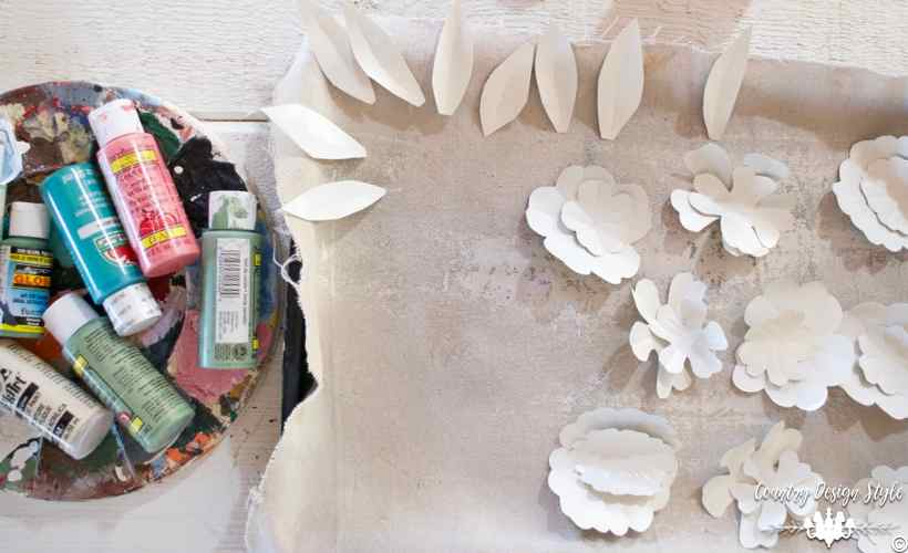 How-to-make-an-insane-metal-flower-wreath-painted-white   Country Design Style   countrydesignstyle.com