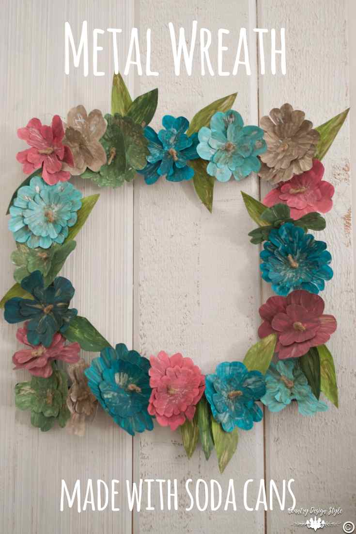 How-to-make-an-insane-metal-flower-wreath-pin-this   Country Design Style   countrydesignstyle.com