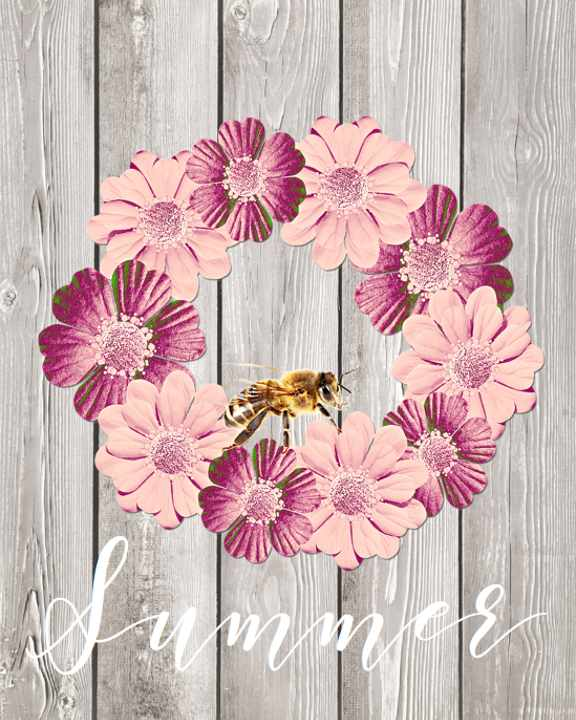 Beautiful-Summer-wreaths-printable-image   Country Design Style   countrydesignstyle.com