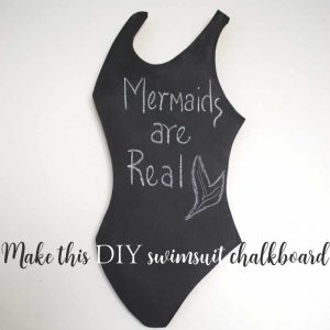 Chalkboard-shape-little-black-swimsuit-sq2 | Country Design Style | countrydesignstyle.com