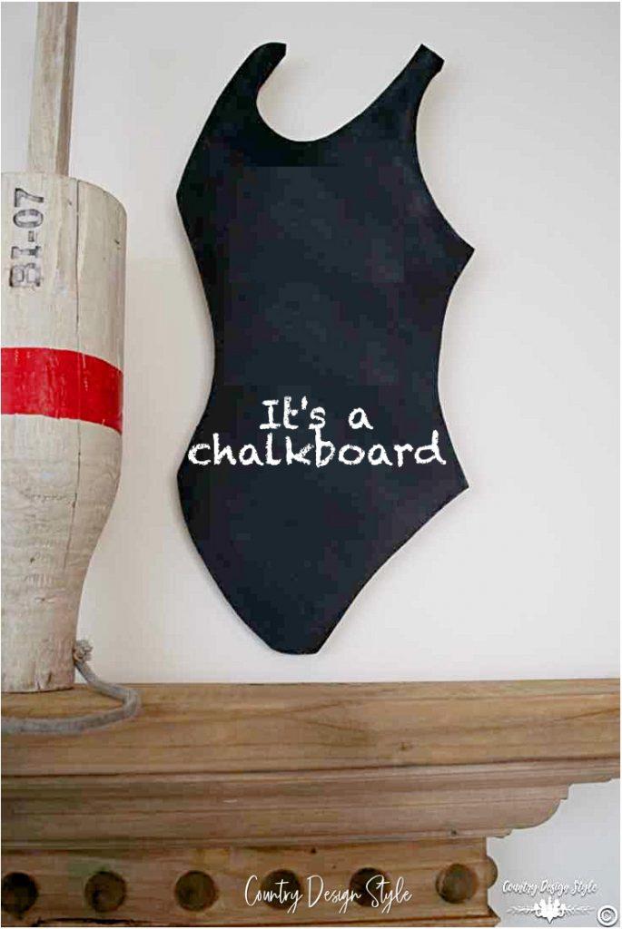 Chalkboard swimsuit