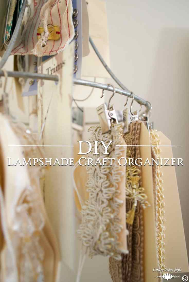 DIY Craft Organizer pin 2 | Country Design Style | countrydesignstyle.com