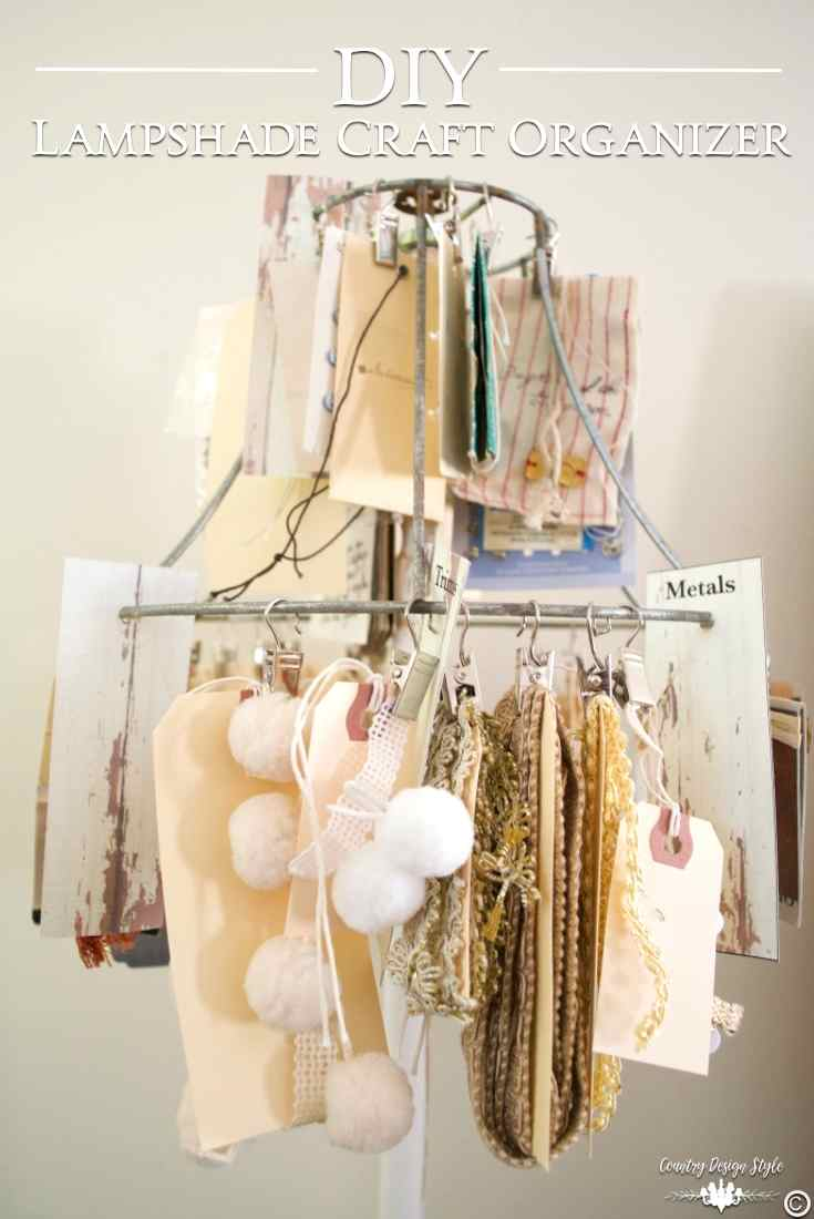 DIY Craft Organizer pn | Country Design Style | countrydesignstyle.com