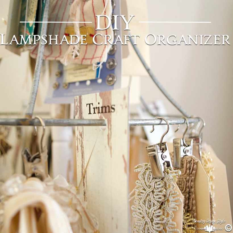 DIY Craft Organizer sq | Country Design Style | countrydesignstyle.com