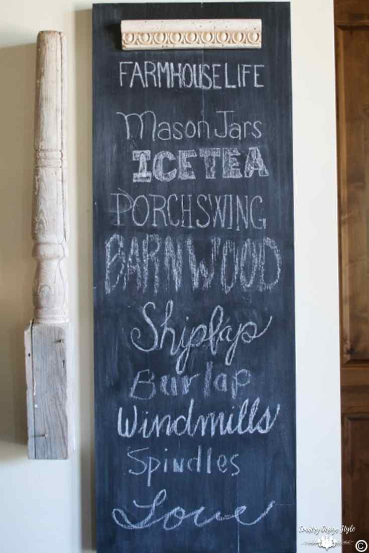 How-to-make-an-easy-DIY-chalkboard-with-scrap-wood-farmhouse | Country Design Style | countrydesignstyle.com