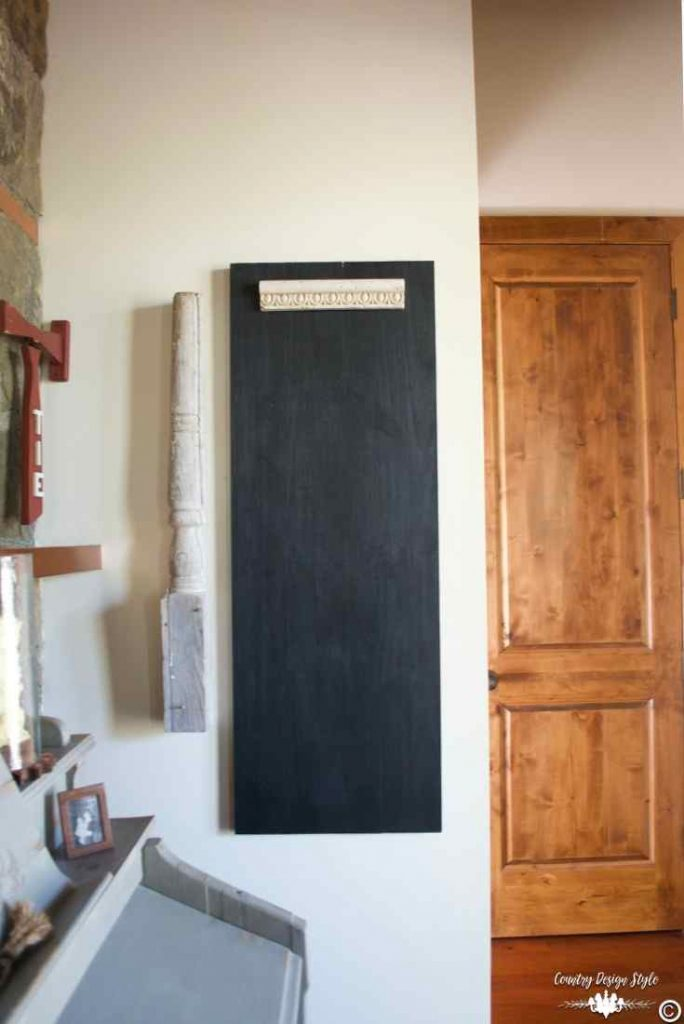 Long chalkboard on wall