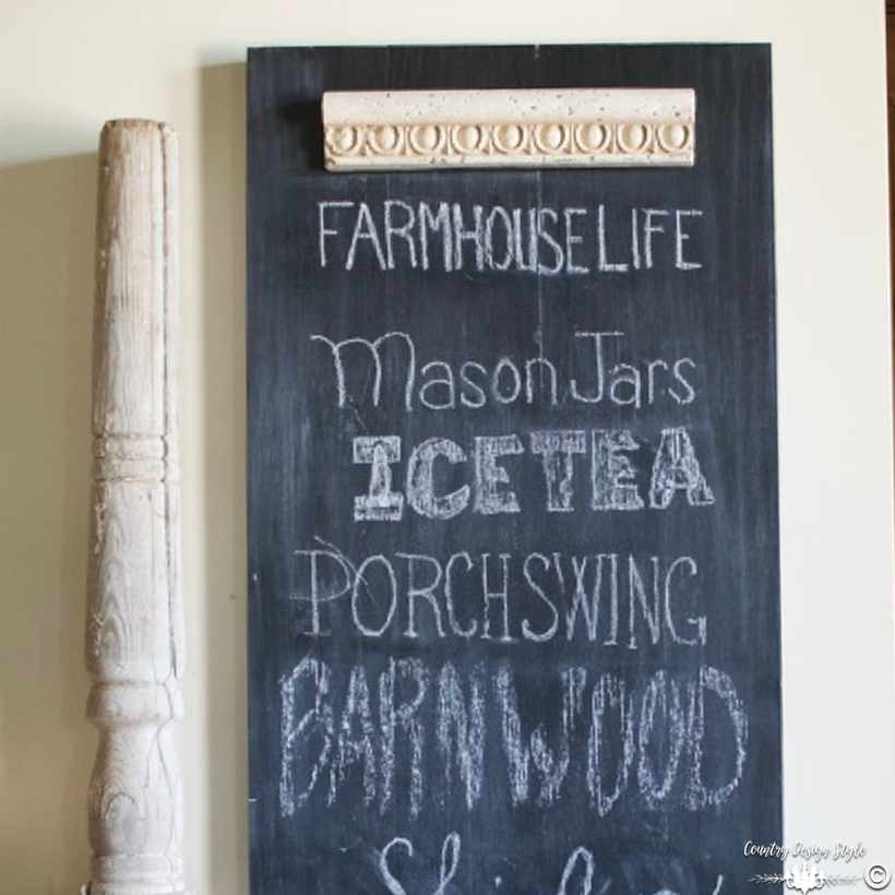 How-to-make-an-easy-DIY-chalkboard-with-scrap-wood sq | Country Design Style | countrydesignstyle.com