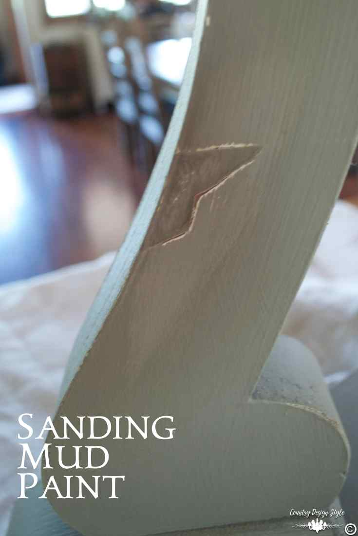 Mud-Paint-sanding | Country Design Style | countrydesignstyle.com