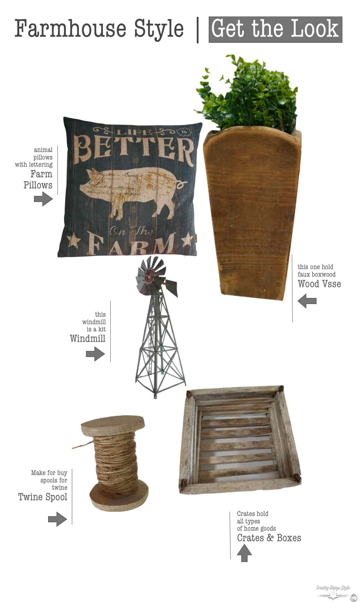 Farmhouse Style Get the Look | Country Design Style | countrydesignstyle.com