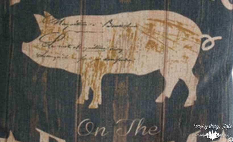 Farmhouse Style Get the Look pig pillow | Country Design Style | countrydesignstyle.com