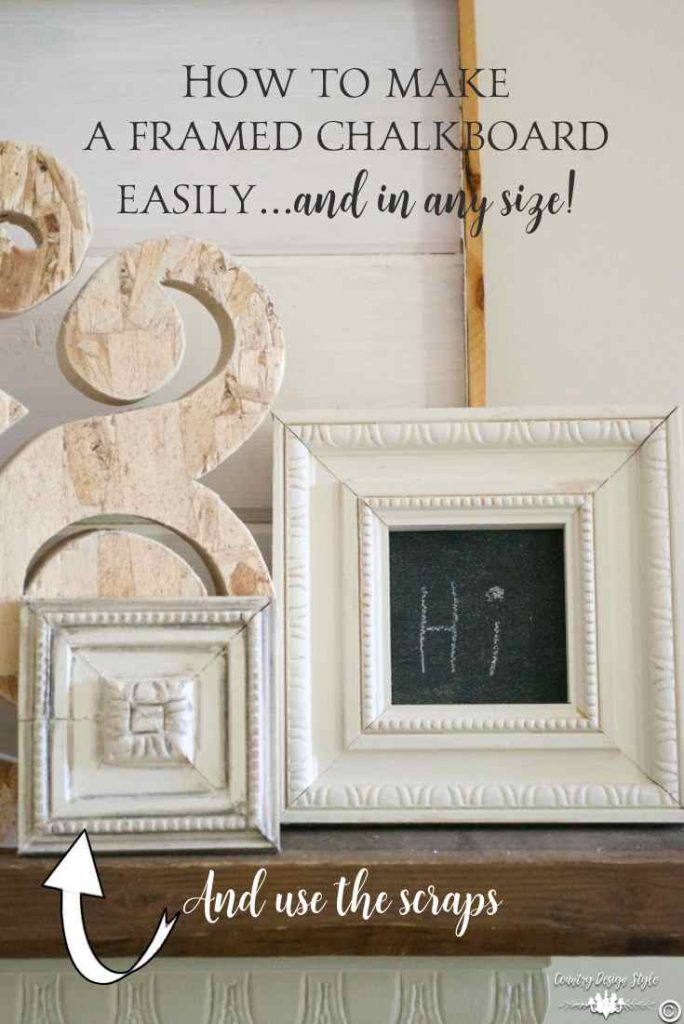 Framed Chalkboard Pin | Country Design Style | countrydesignstyle.com