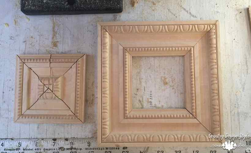 Framed Chalkboard molding frame and scraps | Country Design Style | countrydesignstyle.com