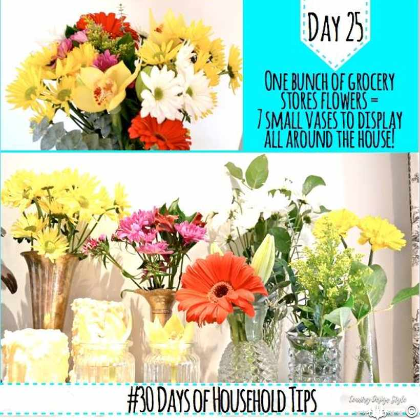 Grocery store flower tips | Country Design Style | countrydesignstyle.com