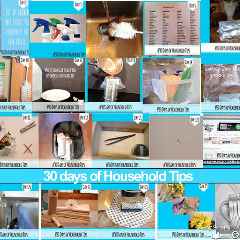My unique 30 days of household tips