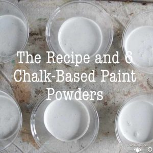 Making homemade chalk-based paint sq | Country Design Style | countrydesignstyle.com
