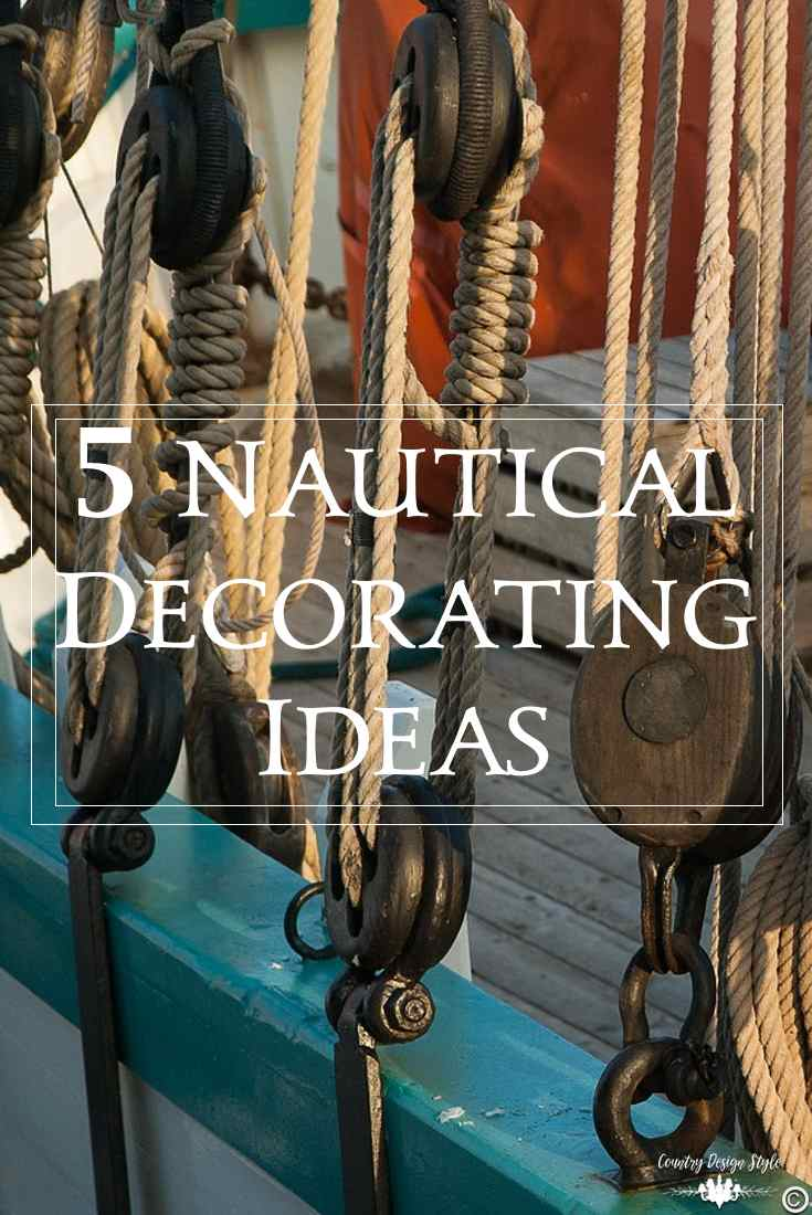 Nautical decorating ideas that are easy   Country Design Style   countrydesignstyle.com