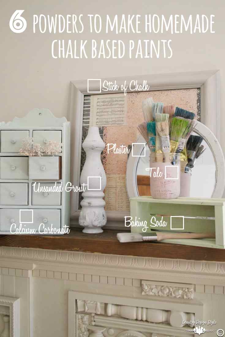 Chalk powders for paint pin 1 | Country Design Style | countrydesignstyle.com
