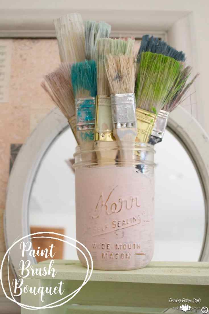 Cheap Paint Brushes Bouquet Pin 2 | Country Design Style | countrydesignstyle.com
