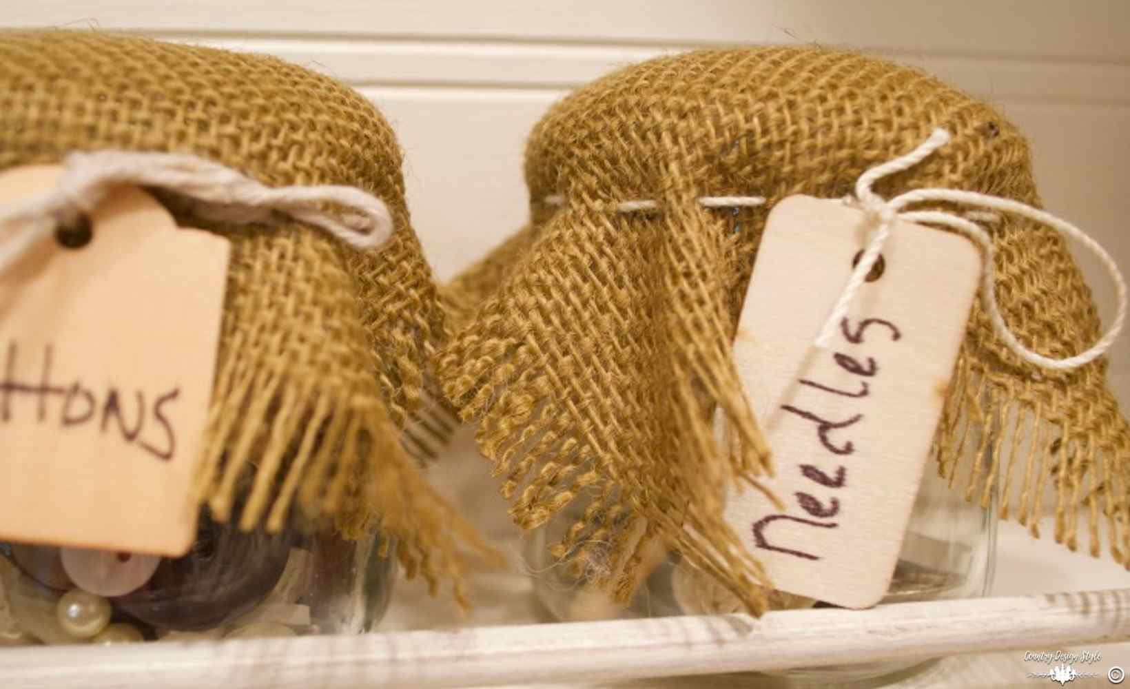 Craft Containers Organizing small items Feature Photo   Country Design Style   countrydesignstyle.com