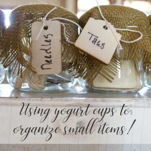 Craft Containers Organizing small items sq | Country Design Style | countrydesignstyle.com