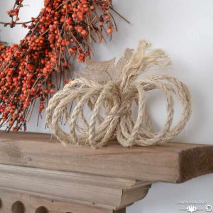 5 minute rope pumpkin | Country Design Style | countrydesignstyle.com