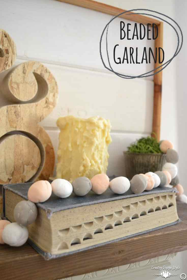 Beaded garland pin | Country Design Style | countrydesignstyle.com