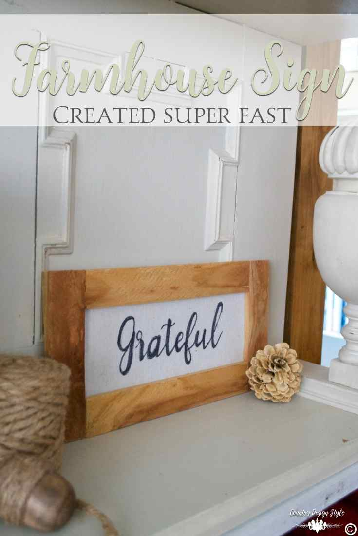 Farmhouse art sign on drop cloth | Country Design Style | countrydesignstyle.com