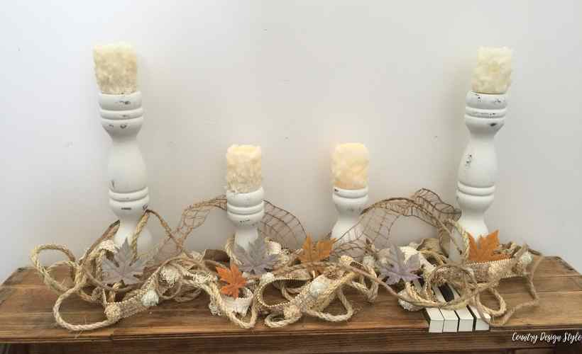 DIY Farmhouse candle holders fp | Country Design Style before | countrydesignstyle.com