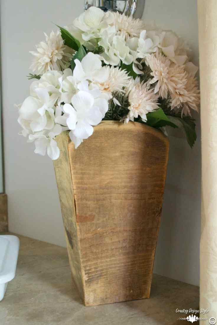 DIY Wood Vases made years ago | Country Design Style | countrydesignstyle.com