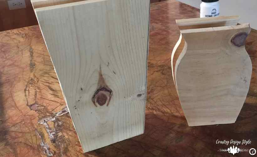 DIY Wood Vases ready for paint | Country Design Style | countrydesignstyle.com