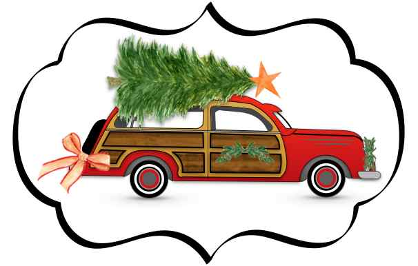 woodie christmas car image country design style countrydesignstylecom - Woodies Christmas Decorations