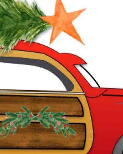 Woodie Christmas Car Printable