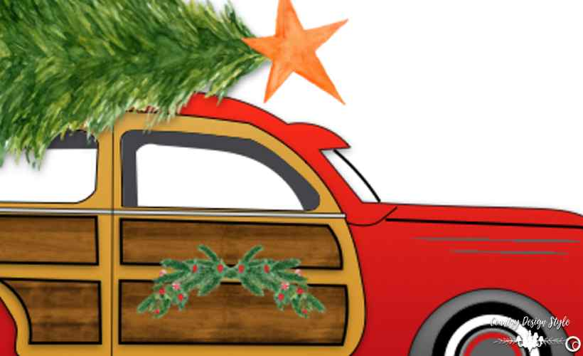 Woo Car Christmas Country Design Style Countrydesignstyle