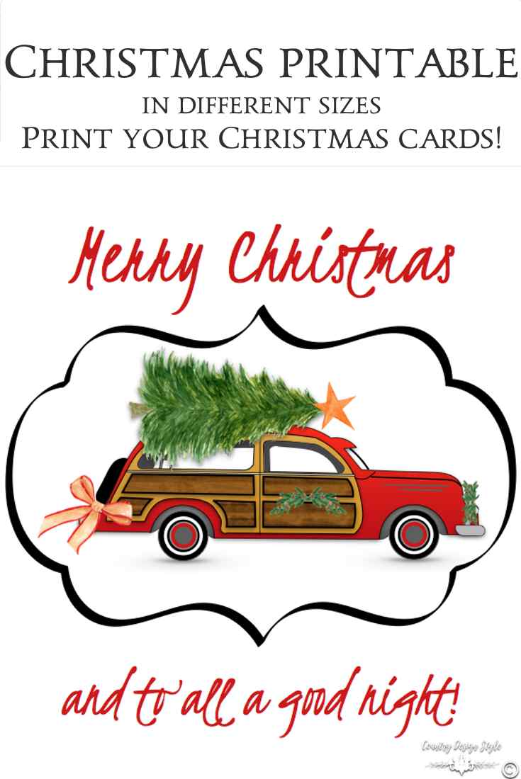 Woodie car christmas pin | Country Design Style | countrydesignstyle.com