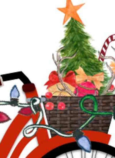 Christmas Bicycle Printable